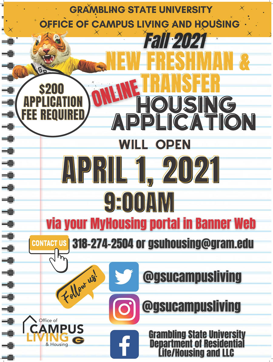 Spring 2021 Campus Life-Housing Application Notice