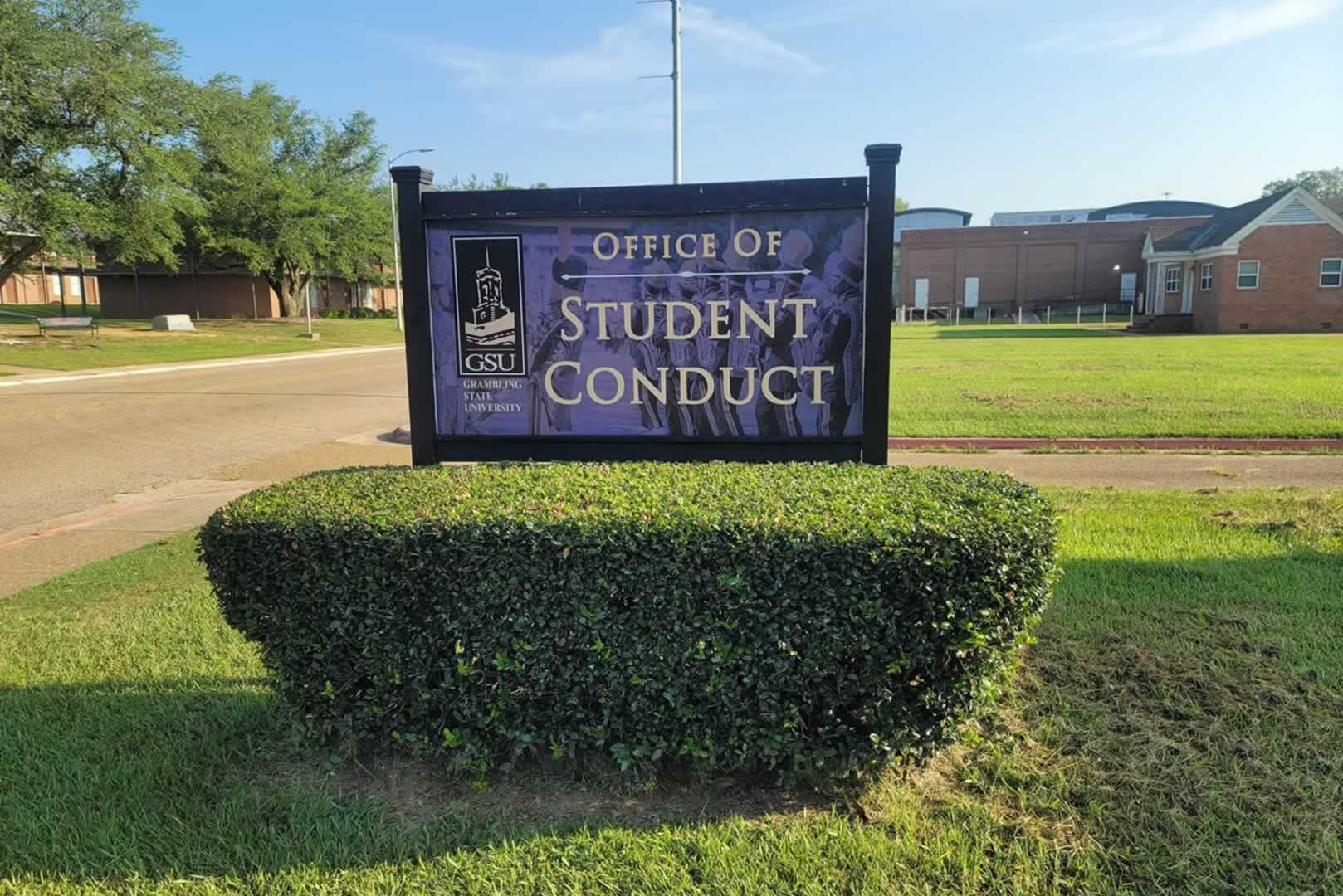 Office of Student Conduct - Campus Sign