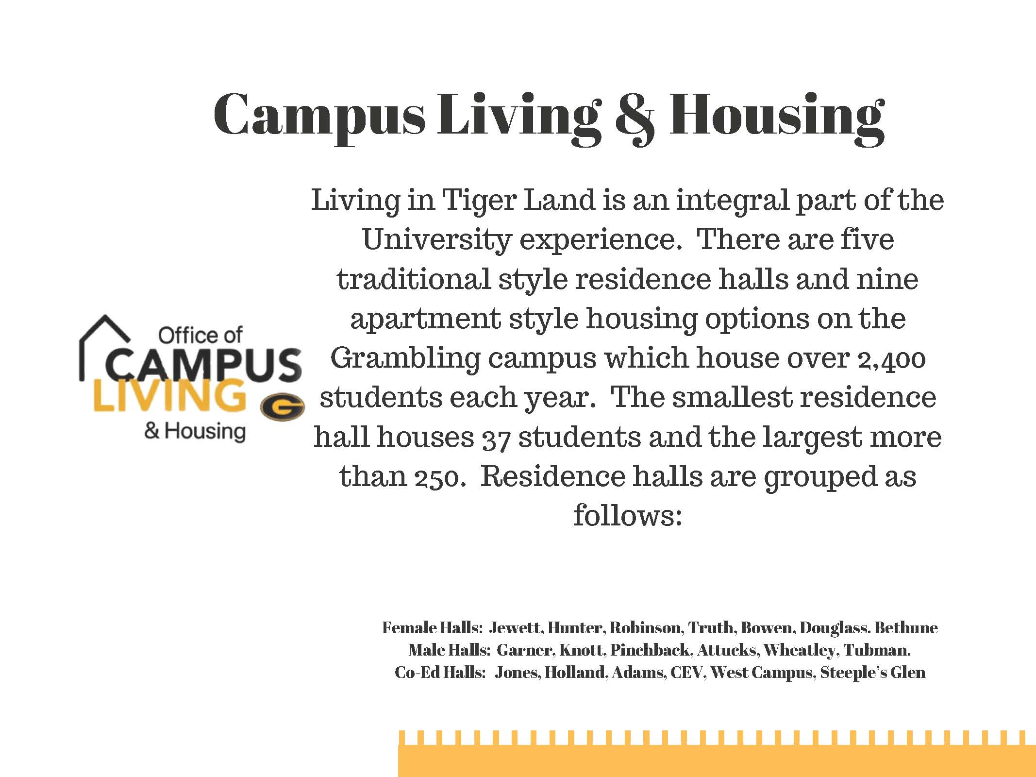 About Campus Living & Housing