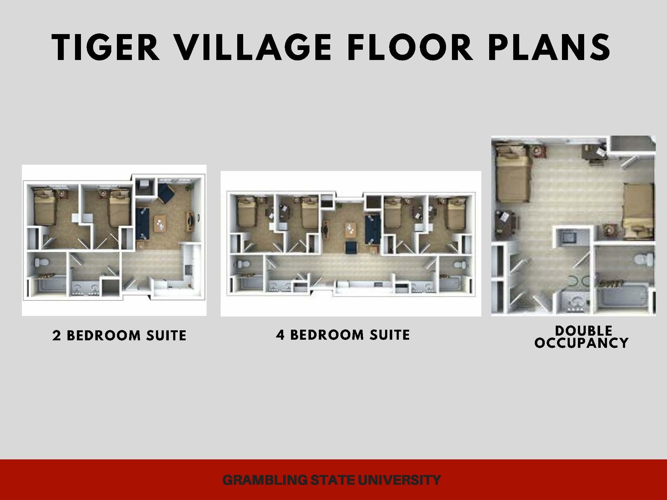 Tiger Village Floor Plans