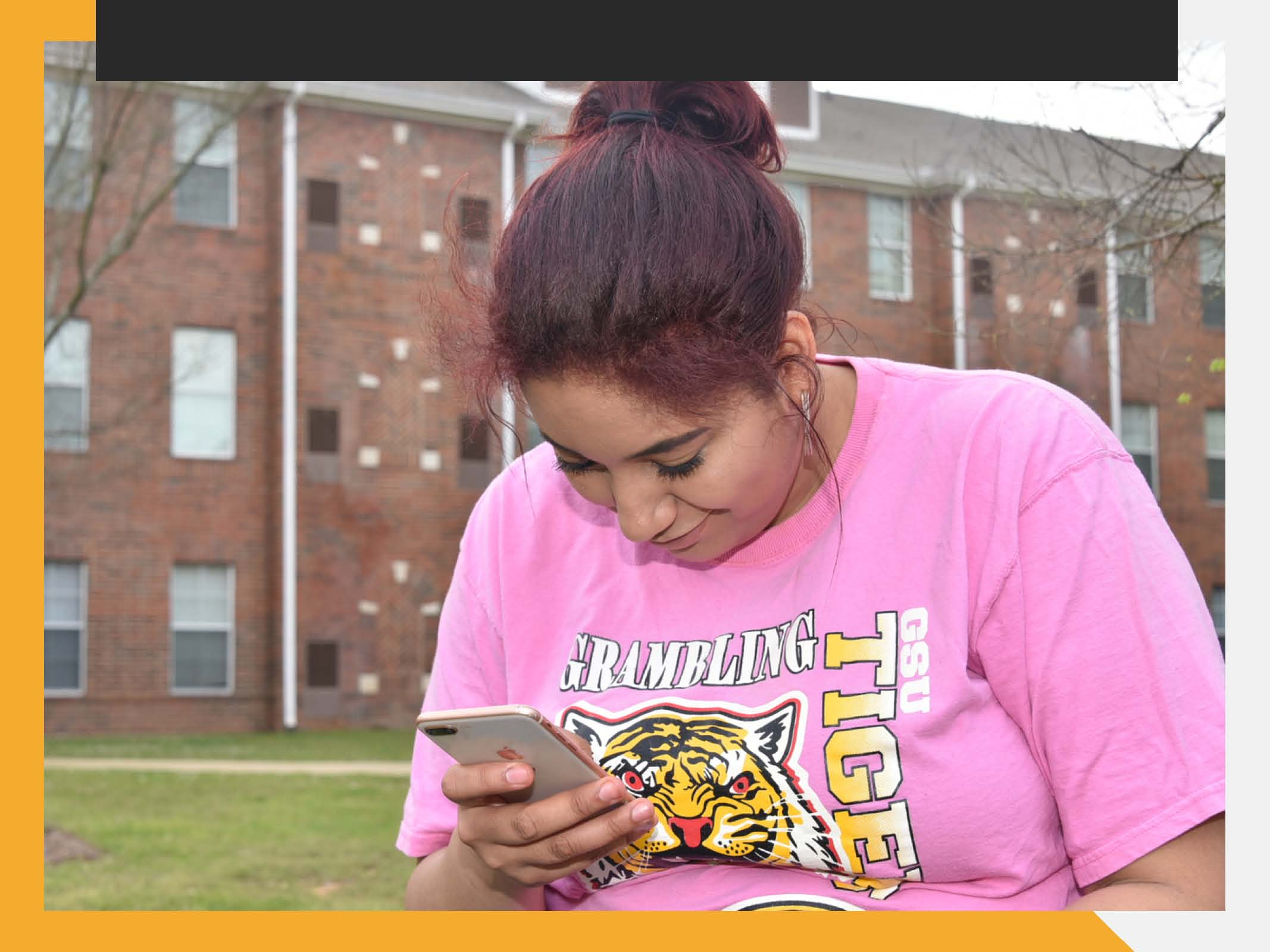 GSU Student on phone photo