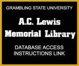 GSU A.C. Lewis Memorial Library Database Access Instructions