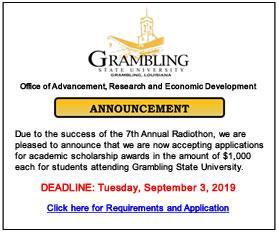 Radiothon Scholarship Fall 2019