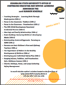 2018 Summer Courses