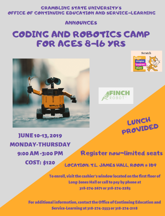 Coding and Robotics Camp 2019