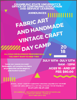 Fabric Art and Handmade Vintage Craft Day Camp