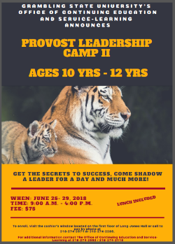 Provost's Leadership Camp II