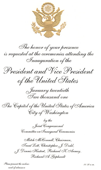 Letter from Pres. George W Bush