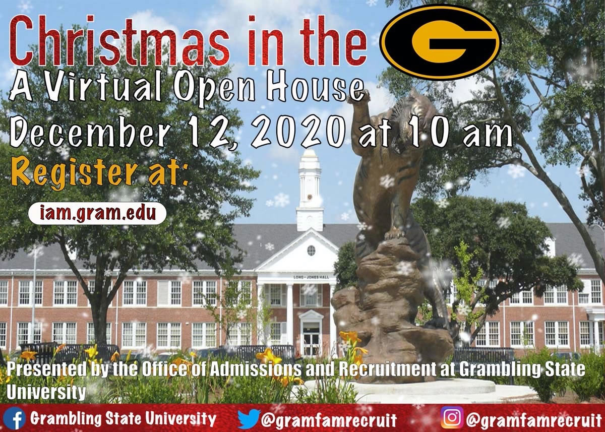 Christmas in the G - Virtual Open House @ Online - iam.gram.edu