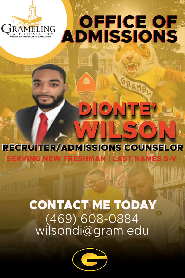 Dionte' Wilson, Recruiter/Admissions Counselor