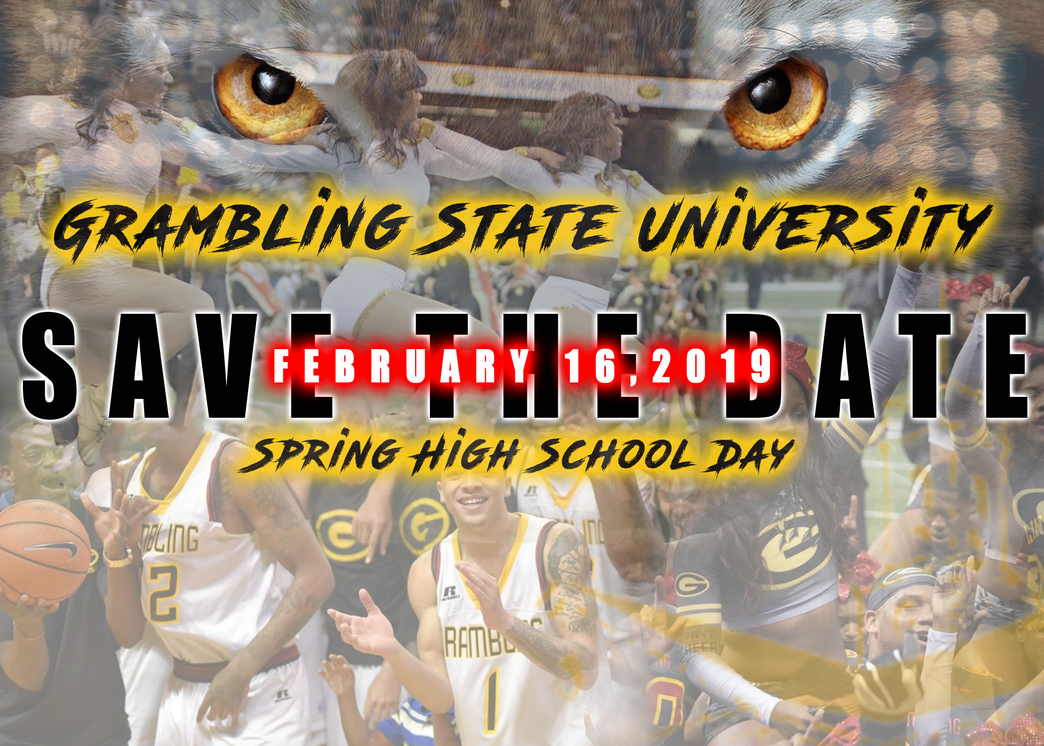 Spring 2019 High School Day - Save the Date Flyer