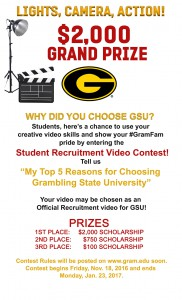 Student Recruitment Video Contest @ Grambling | Louisiana | United States