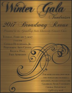 Grambling State University Concert Choir 2017 Winter Gala @ Hutchinson PAC, Recital Hall | Grambling | Louisiana | United States