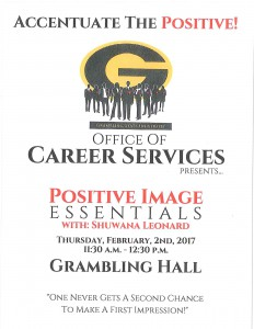 Positive Image Essentials @ Grambling Hall | Grambling | Louisiana | United States