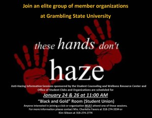 Anti Hazing Session Spring 2017