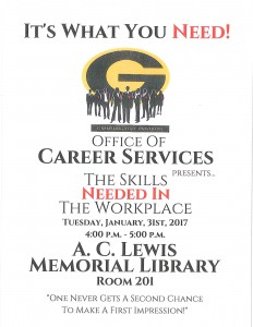 The Skills Needed in the Workplace @ A.C. Lewis Memorial Library Rm. 201 | Grambling | Louisiana | United States