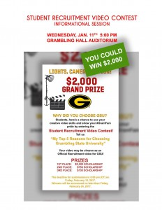 Video Contest Info Session @ Grambling Hall Auditorium