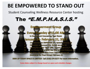 The E.M.P.H.A.S.I.S. @ Student Counseling Tiger Room | Grambling | Louisiana | United States