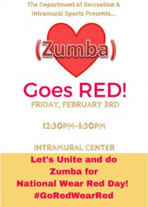 Zumba Goes RED! @ Intramural Center | Grambling | Louisiana | United States