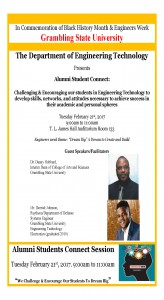 Department of Engineering Technology presents Alumni Student Connect @ T. L. James Hall Auditorium, Room 133 | Grambling | Louisiana | United States