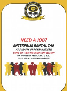 Opportunities with Enterprise Rental @ Grambling Hall | Grambling | Louisiana | United States