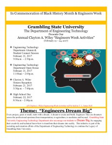 Black History Month & Engineers Week @ T.L. James Hall | Grambling | Louisiana | United States