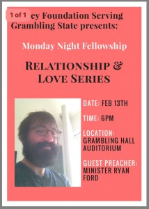Monday Night Fellowship with Minister Ryan Ford @ Grambling Hall Auditorium | Grambling | Louisiana | United States