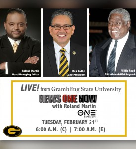 Roland Martin LIVE! - From Grambling State University @ TV One - News One Now with Roland Martin | Grambling | Louisiana | United States
