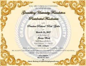 Grambling University Foundation Presidential Fundraiser @ Home of Jimmie Woods | New Orleans | Louisiana | United States