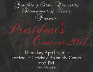 President's Concert 2017 - Apr. 6, 7pm Hobdy Assembly Center