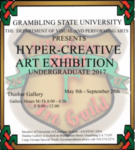 GSU Student Exhibition - May 8 - Sept. 28 Dunbar Gallery
