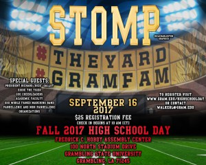 High School Day Fall 2017 - Sept. 16, 10AM, Hobdy Assembly Center