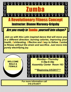 Zumba Fitness Class - Fall 2017 @ Assembly Center, Room 163 | Grambling | Louisiana | United States