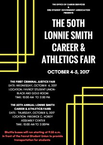 The 50th Annual Lonnie Smith Career Fair - Oct. 4-5, 10 am - 2 pm, Hobdy Assembly Center