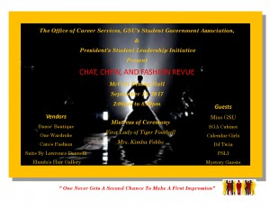 CHAT, CHEW, AND FASHION REVUE @ McCall Dining Hall | Grambling | Louisiana | United States