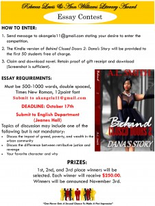 Rebecca Lewis & Ann Williams Literary Award Essay Contest @ English Department, Jeanes Hall | Grambling | Louisiana | United States