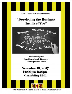 Developing the Business Inside of You @ Grambling Hall | Grambling | Louisiana | United States