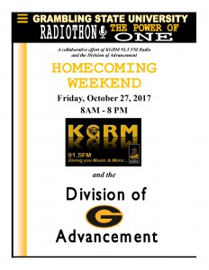 Radiothon - Oct. 27, 8 am - 8 pm, KGRM Radio Station