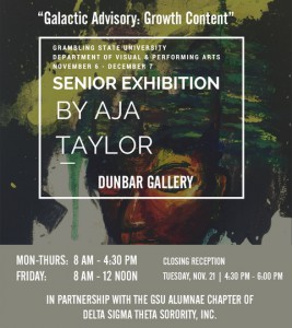"""Galactic Advisory: Growth Content"" Senior Exhibit by Aja Taylor @ Dunbar Gallery 