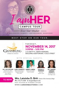 I am HER - CAMPUS TOUR @ Betty E. Smith Nursing Building Auditorium | Grambling | Louisiana | United States