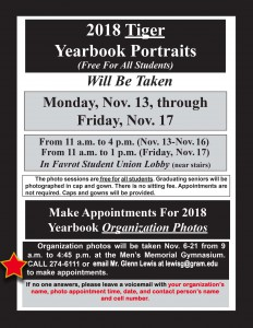 2018 Tiger Yearbook Portraits @ Favrot Student Union Lobby (Tiger Den, near stairs) | Grambling | Louisiana | United States
