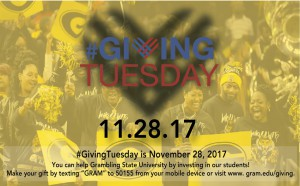 Giving Tuesday - Nov. 28, Office of Institutional Advancement