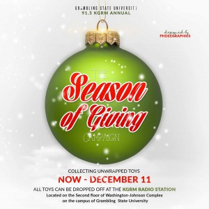 The Season of Giving Campaign @ KGRM Radio Station - Washington-Johnson Complex | Grambling | Louisiana | United States