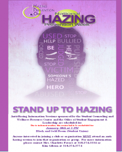 Hazing Prevention Information Session @ Black & Gold Room (Favrot Student Union) | Grambling | Louisiana | United States