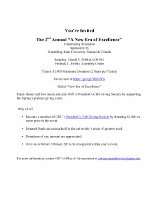 Era of Excellence Fundraising Reception - Mar. 3, 6pm, Fredrick Hobdy Assembly Center