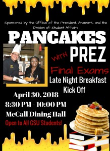 Pancakes with Prez @ McCall Dining Hall | Grambling | Louisiana | United States