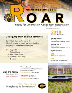 Tiger Summer ROAR Orientation Program - Jun. 14 & Jul. 19, Fredrick C. Hobdy Assembly Center