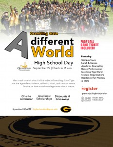 Fall 2018 High School Day - A different World @ Hobdy Assembly Center | Grambling | Louisiana | United States