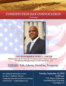 Constitution Day Convocation - Sept. 18, 11:00 a.m., T.H. Harris Auditorium