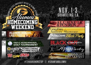 Alumni Homecoming Weekend @ Robinson Stadium (various locations on campus) | Grambling | Louisiana | United States